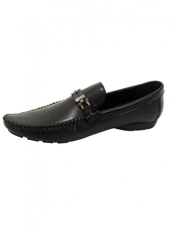 Front Buckle leather shoes