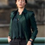 New-Rebecca-Ferguson-Green-Cotton-Coat