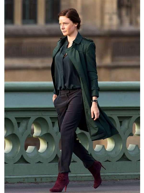 New-Rebecca-Ferguson-MI5-green-trench-coat