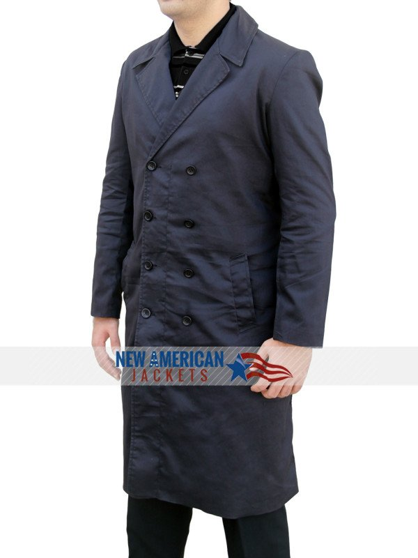Spectre James Bond Coat Long in Black
