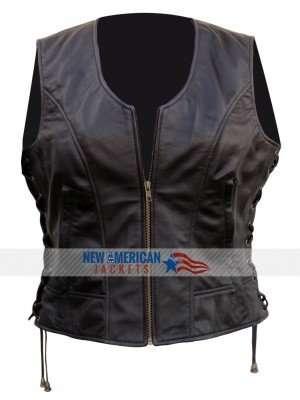 Dead Michonne leather Vest
