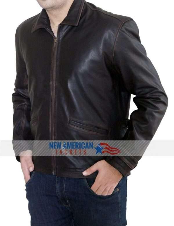 James Bond Brown Leather Jacket