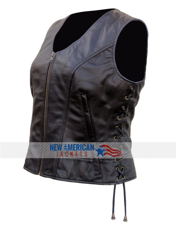 Walking Dead Michonne leather Vest for women