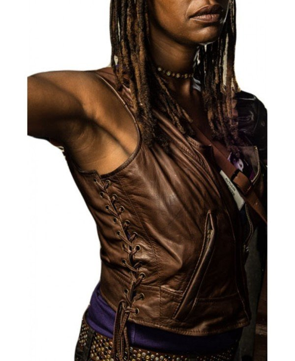 The Walking Dead Michonne Leather Vest for women