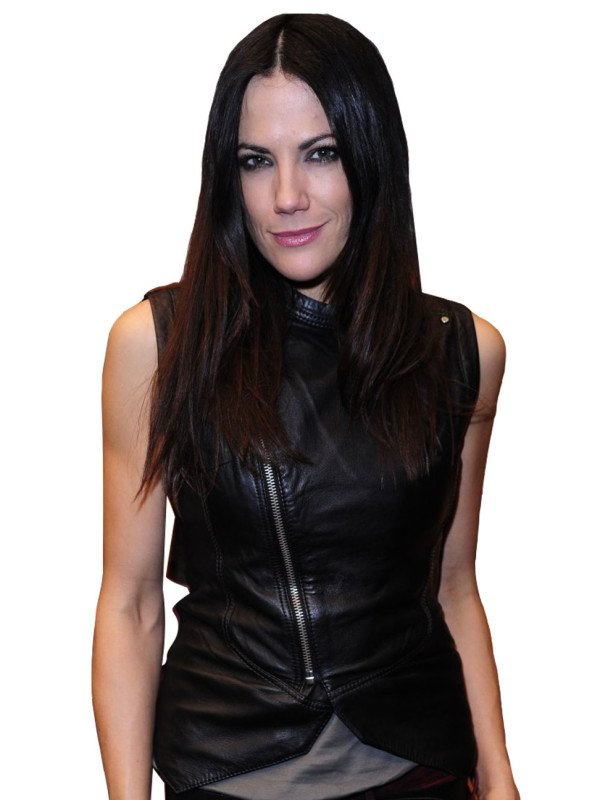 Bettina Zimmermann Black Leather Vest