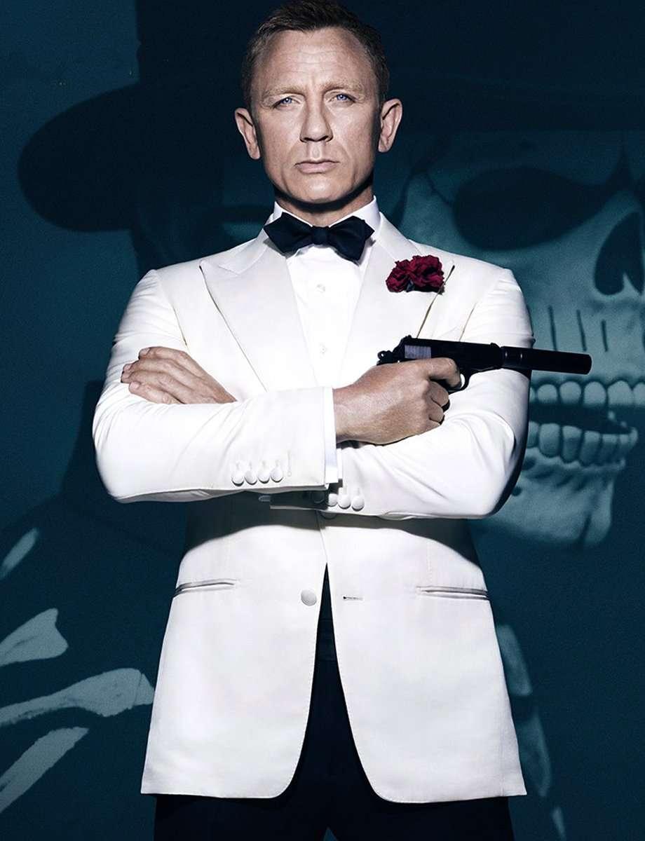 2 Piece James Bond Spectre Ivory Tuxedo