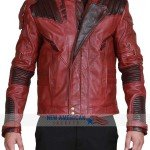 Star Lord 2 Red Leather Jacket