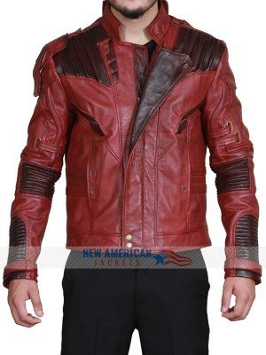 Super Hero Red Leather Jacket