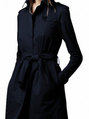 Women Long Wool Black Winter Coat