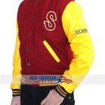Red and Yellow Letterman Crow Jacket