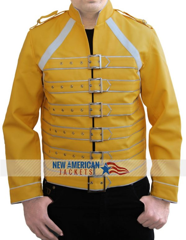 Freddie Yellow Leather Jacket