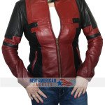 Ladies deadpool leather jacket