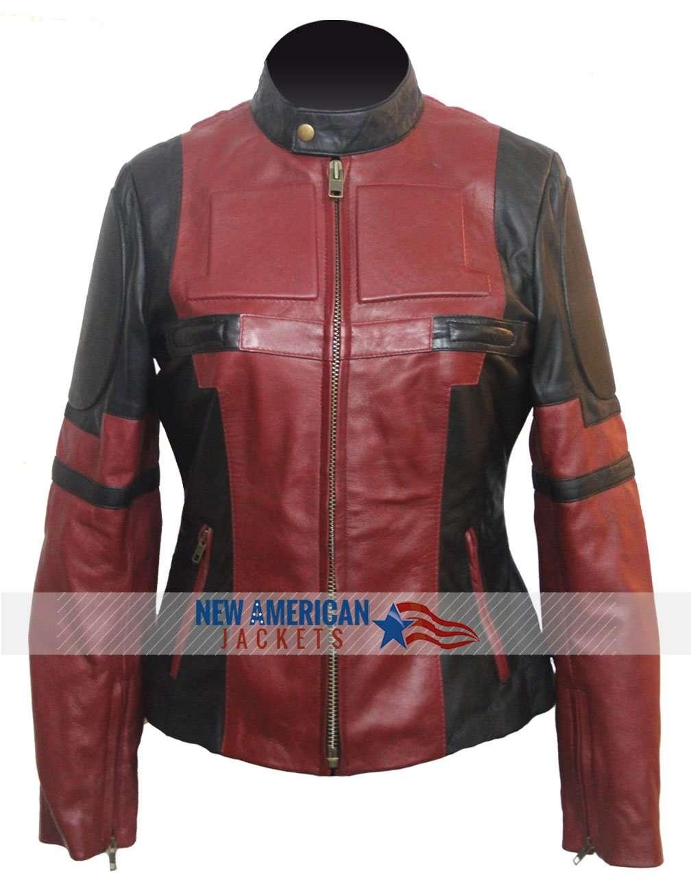 Ladies deadpool leather jacket