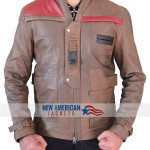 Star Wars Finn Distressed Brown Jacket