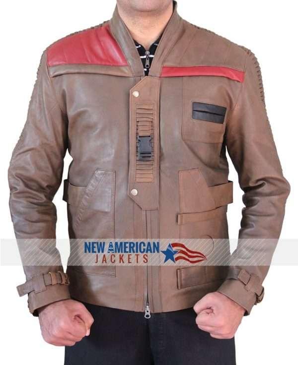 Star Wars Finn Distressed Brown Jacket