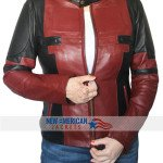 deadpool women leather jacket
