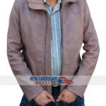 Brown Biker Leather Jacket