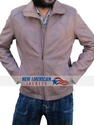Ryan Reynolds Brown Biker Leather Jacket