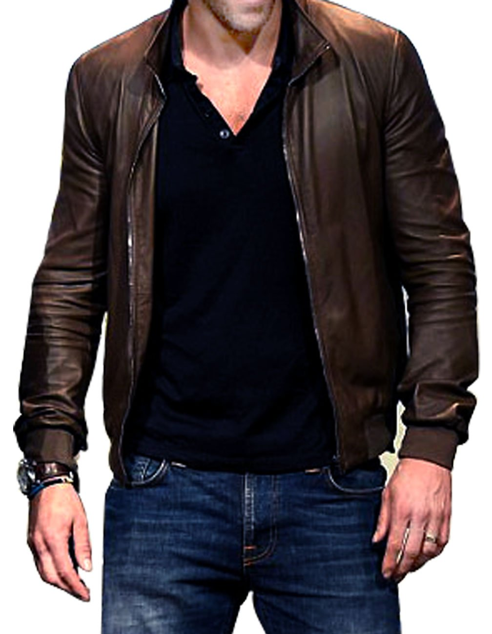88d5b3e35c04 Ryan Reynolds Leather Jacket · Ryan Reynolds brown leather jacket