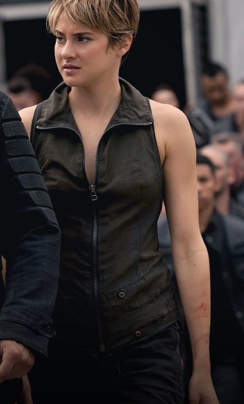 Shailene Woodley leather Vest