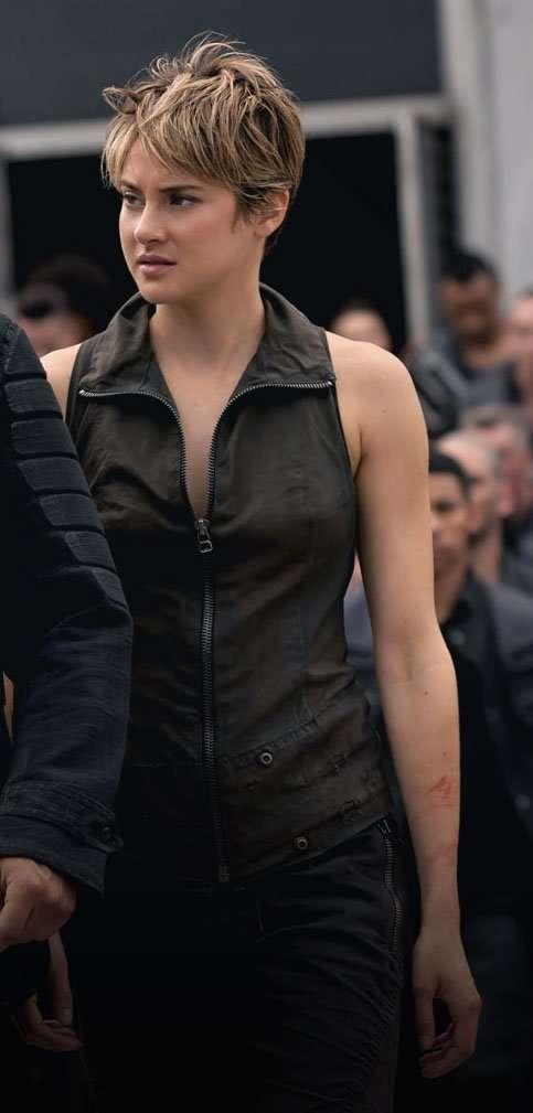 Shailene Woodley leather Vest