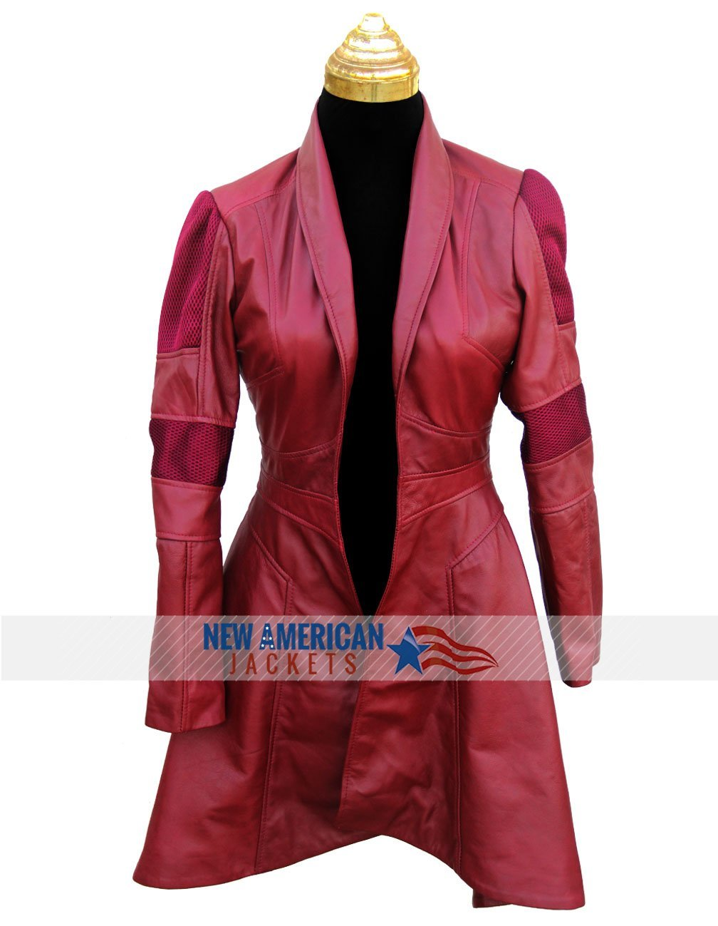 Red Civil War Scarlet Witch Coat - New American jackets