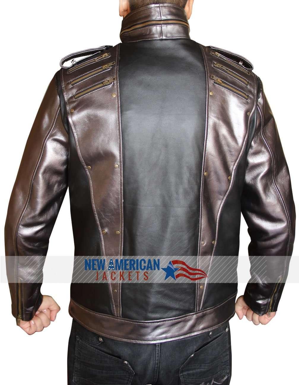 Quiksilver mens jacket -  Apocalypse Quicksilver Leather Jacket
