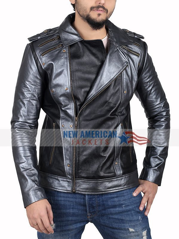 Even Peters X Men Apocalypse Quicksilver Leather Jacket