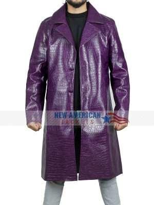 Jared Leto Joker Crocodile Trench Coat