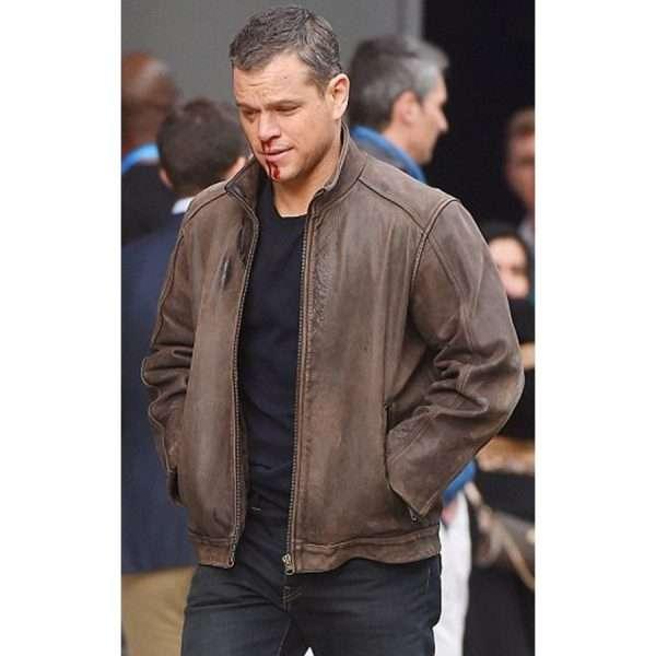Jason Bourne Brown Leather Jacket