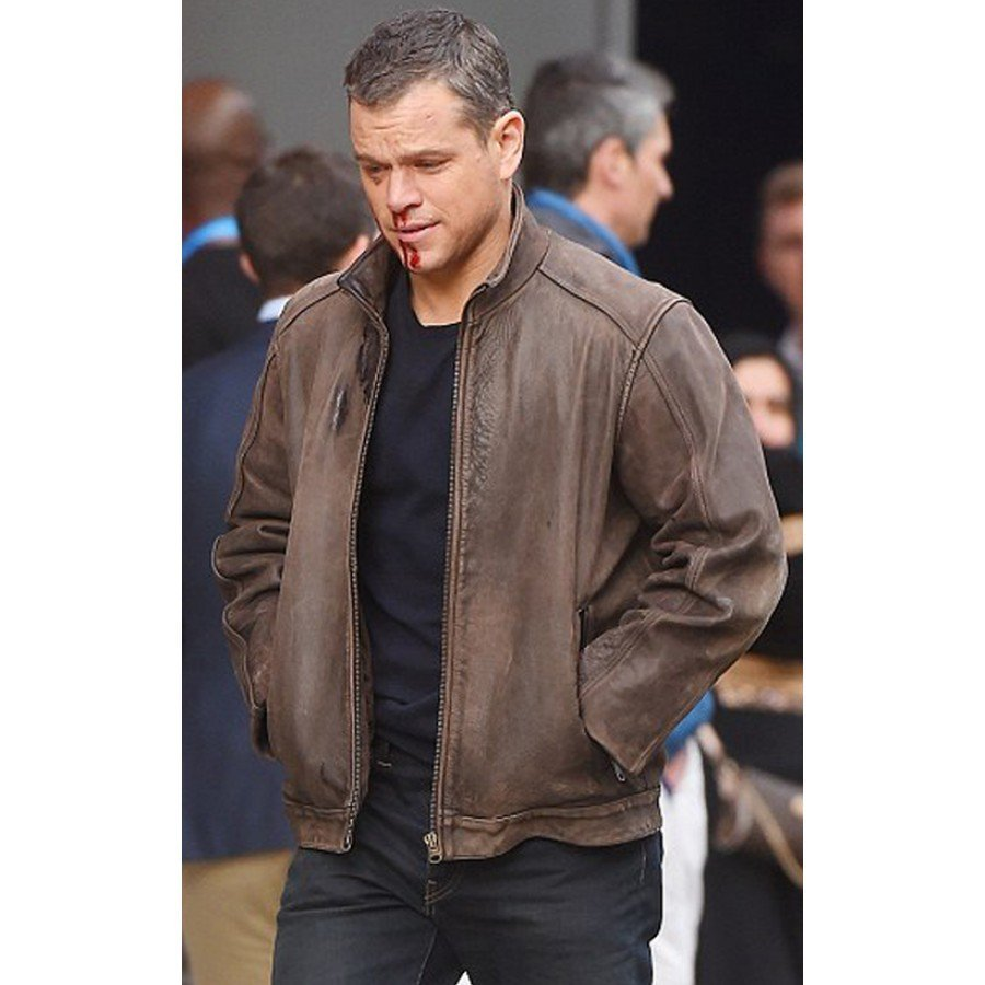 Jason Bourne Brown Leather Jacket - New American jackets