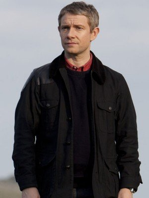 Sherlock Holmes Dr. Watson Black Shooting Jacket Coat