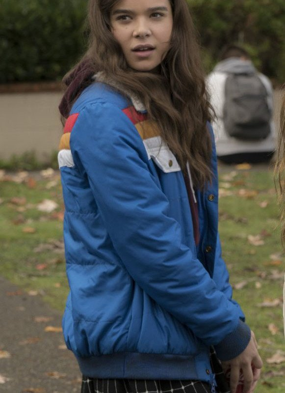 hailee steinfeld jacket from the edge of seventeen movie