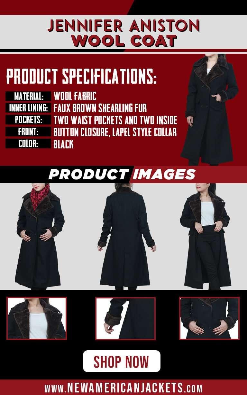 Jennifer Aniston Black Trench Coat