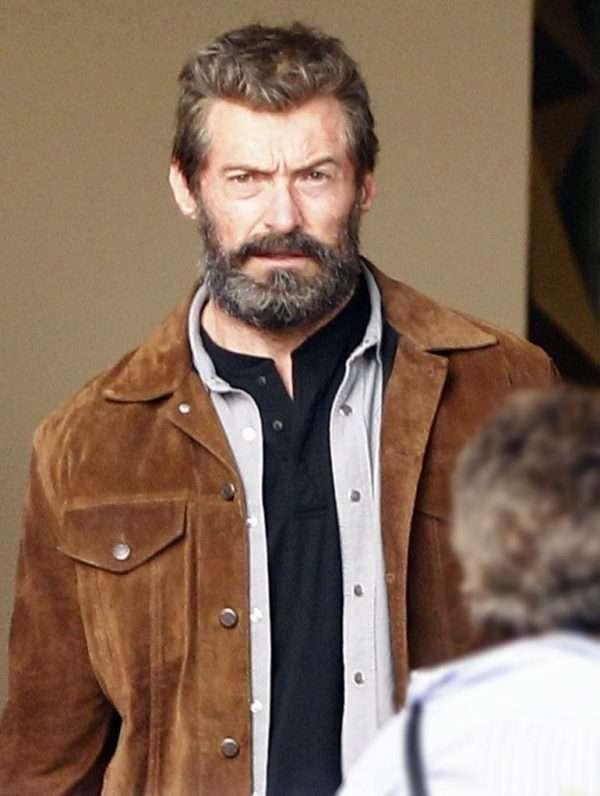 Hugh Jackman Suede Leather Jacket Logan