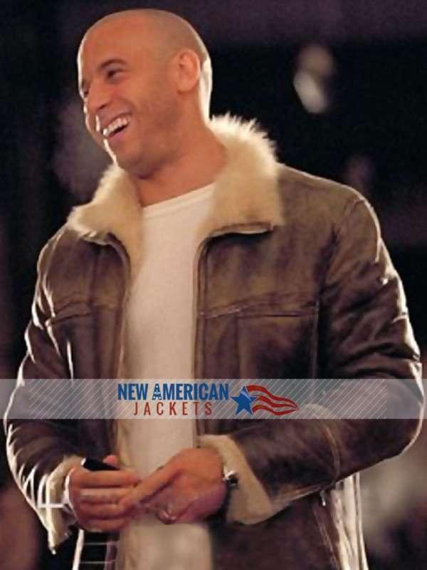 XXX Vin Diesel Xander Cage Leather Fur Jacket