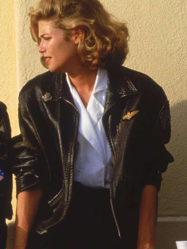 Kelly-McGillis-Charlie-Top-Gun-Leather-Jacket