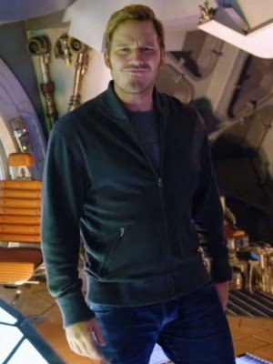 Guardians of the Galaxy 2 Chris Pratt Black Jacket