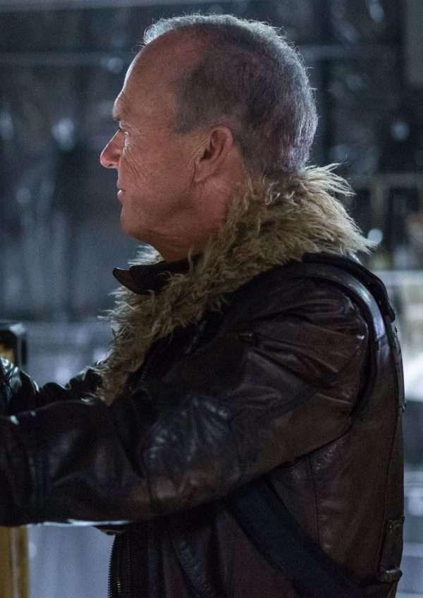 michael keaton vulture leather jacket