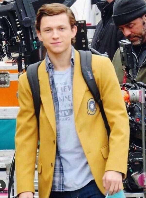 Peter Parker Spiderman Homecoming Yellow Blazer Coat