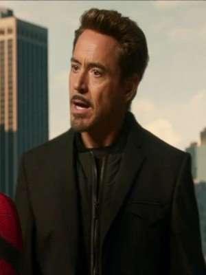 Spiderman Homecoming Robert Downey Jr Coat Jacket