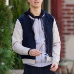 Ansel Elgort Blue Jacket