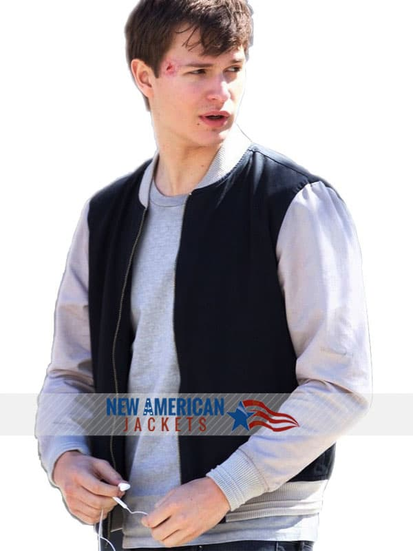 Get Ready for a Ride with Baby Driver Ansel Elgort Varsity Bomber Jacket