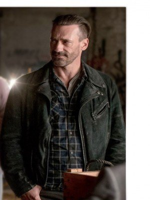 Jon Hamm Suede Leather Jacket