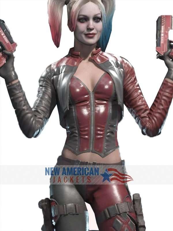 Harley Quinn PU Jacket