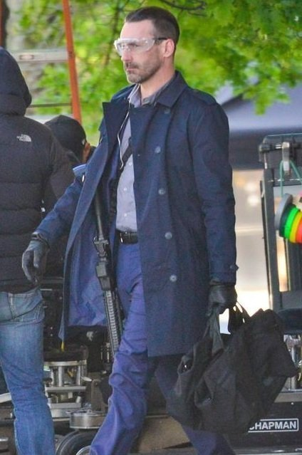 Jon Hamm Blue Coat Cotton
