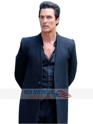 Black Wool Coat Of Matthew McConaughey