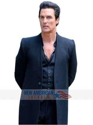 Black Wool Coat Of Matthew McConaughey