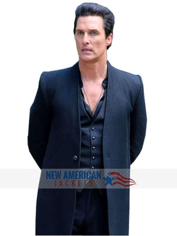 fbd463a93b1a The Dark Tower Matthew McConaughey Coat | Man in Black Coat – New ...