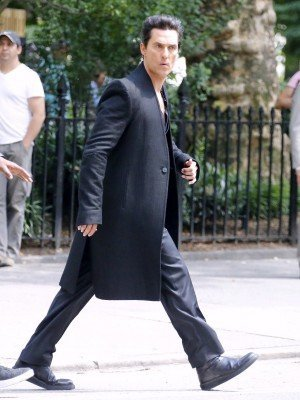 Matthew McConaughey wool coat DarkTower